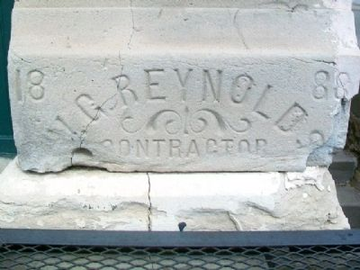 McPherson Opera House Date Stone image. Click for full size.
