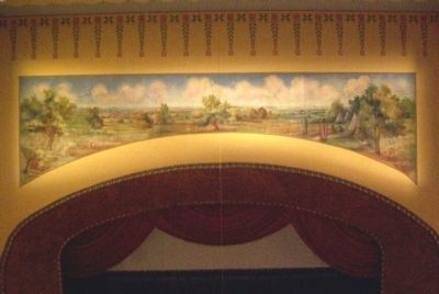 McPherson Opera House Mural Above Stage image. Click for full size.