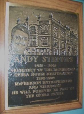 Andy Steffes - McPherson Opera House Savior image. Click for full size.