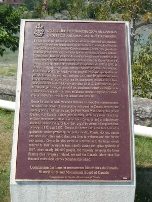 Grosse Île and Immigration to Canada Marker image. Click for full size.