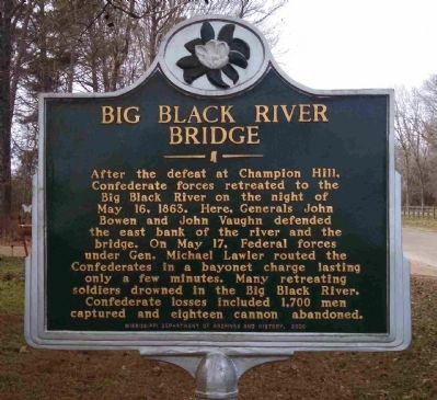 Big Black River Bridge Marker image. Click for full size.
