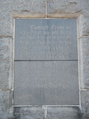 Memorial Tablet on the The Celtic Cross (Gaelic) image. Click for full size.