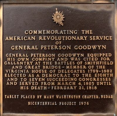 General Peterson Goodwyn Marker image. Click for full size.
