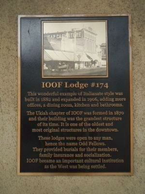 IOOF Lodge #174 Marker image. Click for full size.