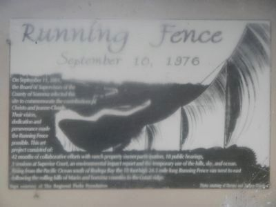 Running Fence Marker image. Click for full size.