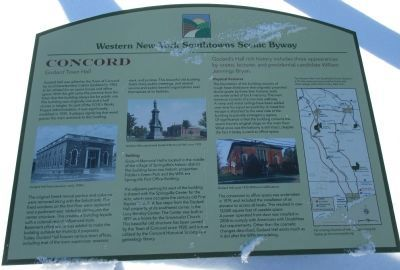 Concord (Godard Hall) Western New York Southtowns Scenic Byway Marker image. Click for full size.