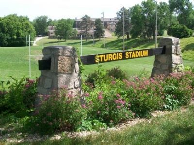 Sturgis Stadium Sign image. Click for full size.