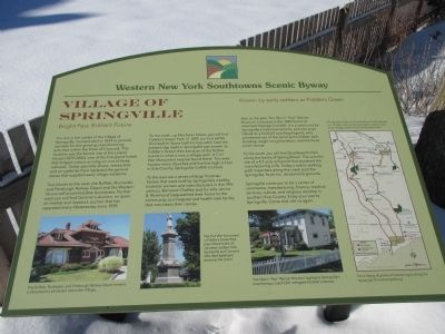 Village of Springville Western New York Southtowns Scenic Byway Marker image. Click for full size.