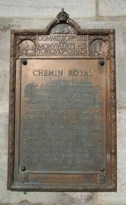Chemin Royal Marker image. Click for full size.