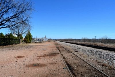 BNSF Railroad Tracks East of Depot image. Click for full size.