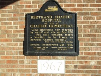 Bertrand Chaffee Hospital Marker image. Click for full size.