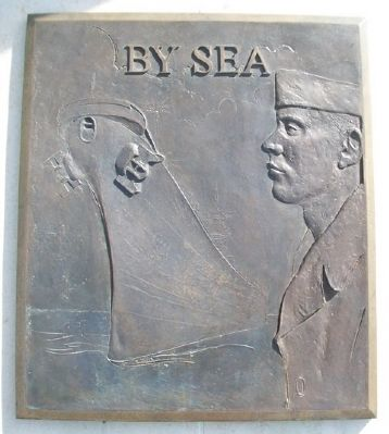 World War II Memorial <i>By Sea</i> Relief image. Click for full size.