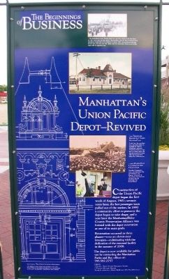 Manhattan's Union Pacific Depot - Revived Marker image. Click for full size.