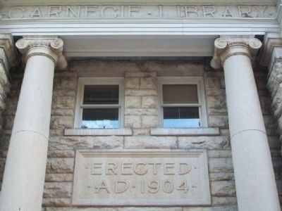 Carnegie Library Entrance Detail image. Click for full size.