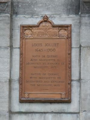 Louis Jolliet Marker image. Click for full size.