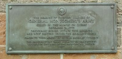 General Montgomery�s Army Marker image. Click for full size.