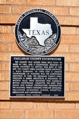 Callahan County Courthouse Marker image. Click for full size.