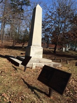 Wide view of The Monticello Graveyard Marker image. Click for full size.