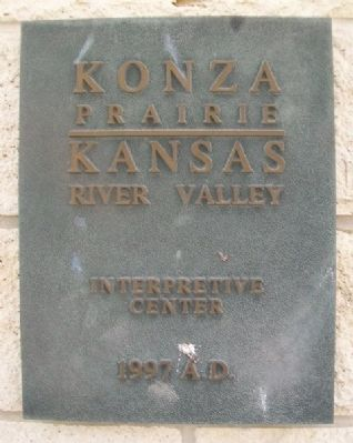 Konza Prairie Interpretive Center Sign image. Click for full size.