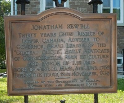 Jonathan Sewell Marker (English) image. Click for full size.