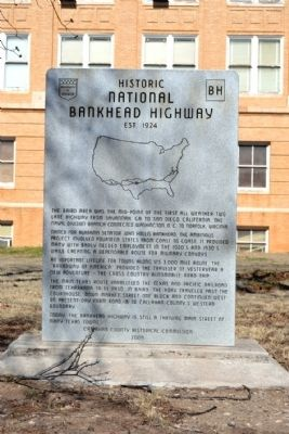 Historic National Bankhead Highway Marker image. Click for full size.