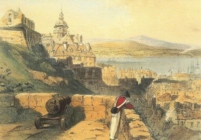 Quebec as seen from the Citadel, 1838 image. Click for full size.