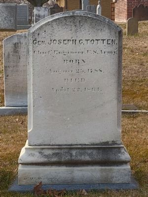 General Joseph G. Totten&#39;s Headstone<br>In Congressional Cemetery image. Click for full size.