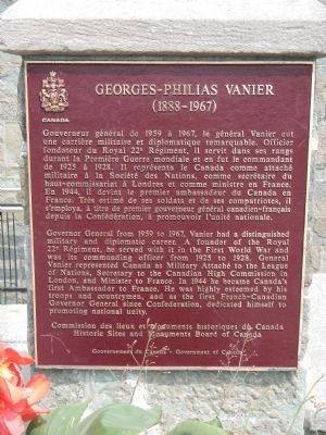 Georges-Philias Vanier Marker image. Click for full size.