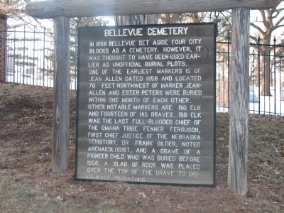 Bellevue Cemetery Marker image. Click for full size.