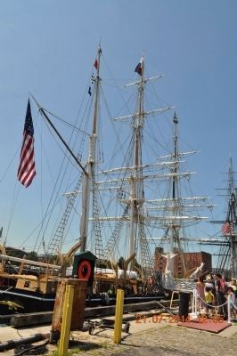 Whaleship Charles W. Morgan docked in Boston's Navy Yard Charlestown,Ma image. Click for full size.