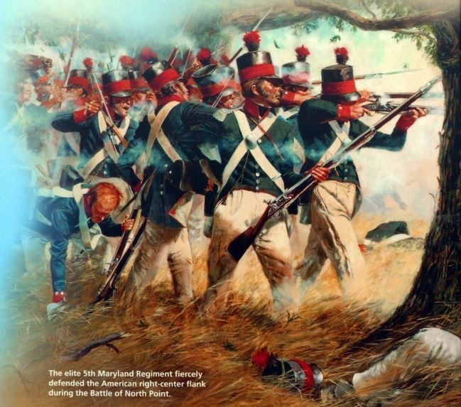 The 5th Maryland Regiment at the Battle of North Point image. Click for full size.