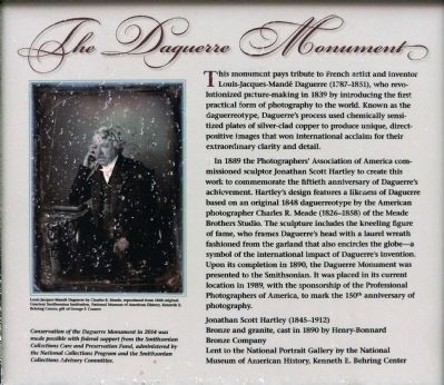 The Daguerre Monument Marker image. Click for full size.