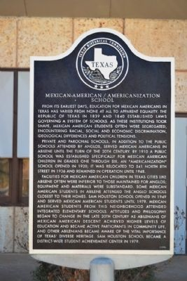 Mexican-American / Americanization School Marker image. Click for full size.