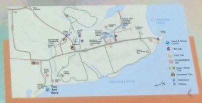 Close up of the map on the War on the Water Marker image. Click for full size.