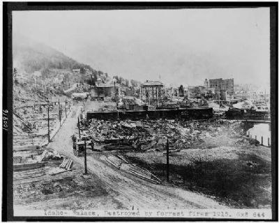 "Wallace after the 1910 ""Big Blowup"" forest fire. image. Click for full size."