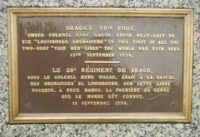 Bragg's 28th Foot, Marker image. Click for full size.