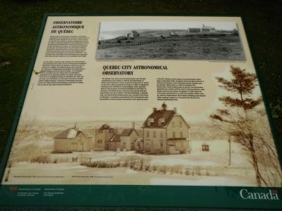 Quebec City Astronomical Observatory Marker image. Click for full size.