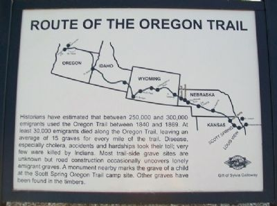 Route of the Oregon Trail Marker image. Click for full size.