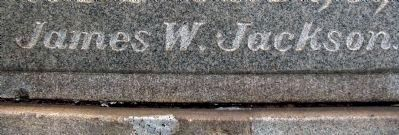 James W. Jackson&#39;s Name<br>on Alexandria&#39;s Confederate Monument Photo, Click for full size