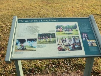 The War of 1812 Living History Marker image. Click for full size.