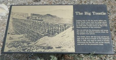 The Big Trestle Marker image. Click for full size.