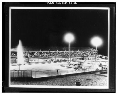 Glen Echo Park's Main Pool, Grandstand and Beach Area image. Click for full size.