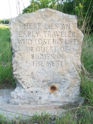 Burial Site of Oregon Trail Traveler Marker image. Click for full size.