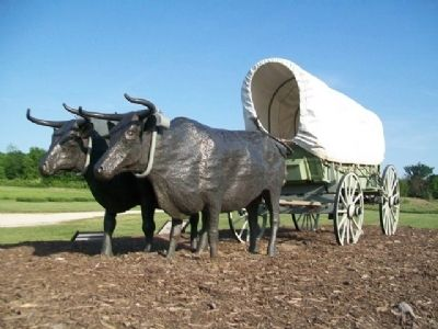Covered Wagon in Oregon Trail Park image. Click for full size.
