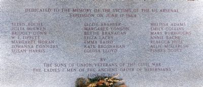 U.S. Arsenal Explosion Memorial image. Click for full size.