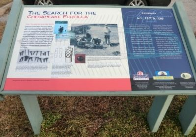 The Search for the Chesapeake Flotilla Marker image. Click for full size.