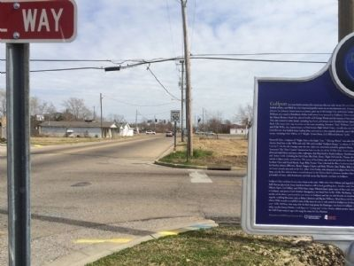 Viewing marker easterly on Martin Luther King Jr Boulevard image. Click for full size.