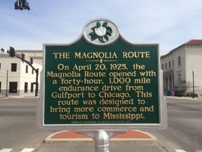 The Magnolia Route Marker image. Click for full size.