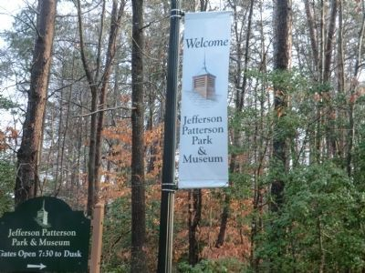 Sign at the entrance to Jefferson Patterson Park and Museum image. Click for full size.