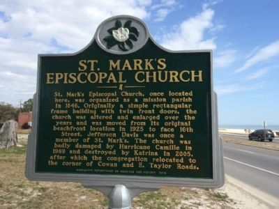 St. Mark's Episcopal Church Marker image. Click for full size.